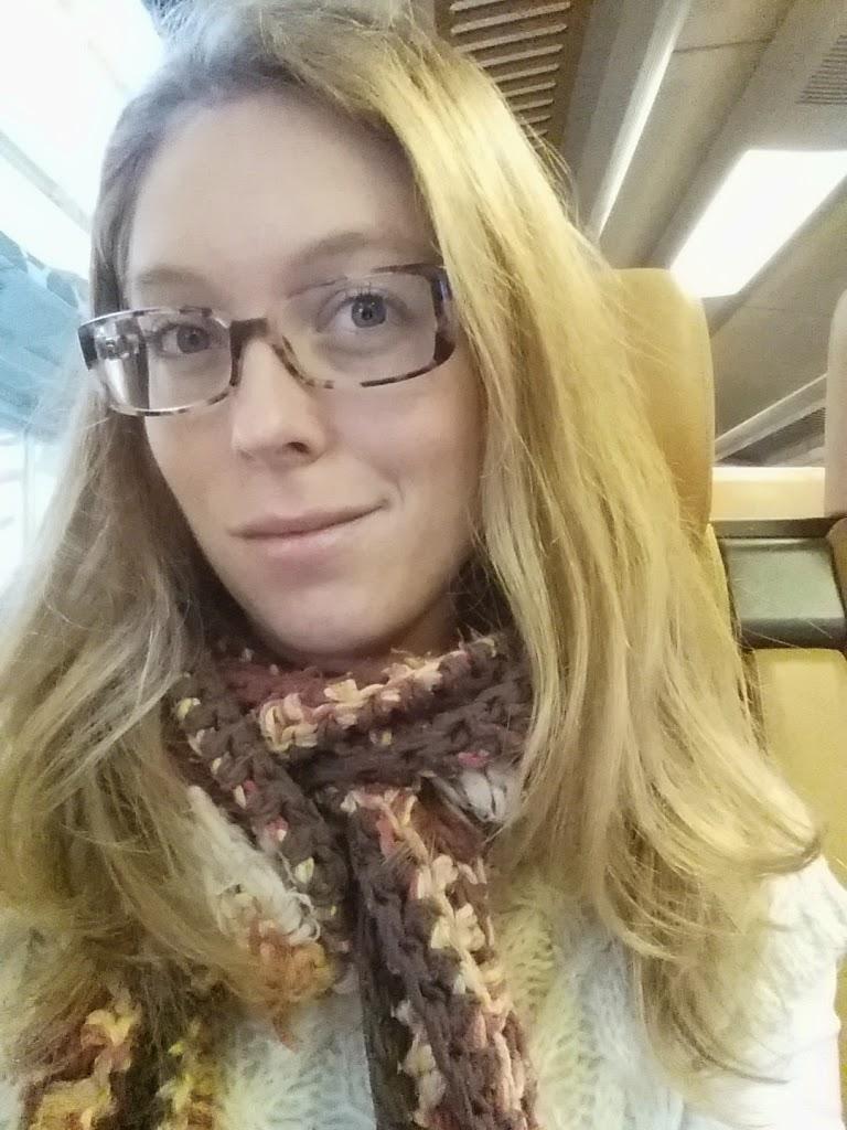 steil haar trein #selfie