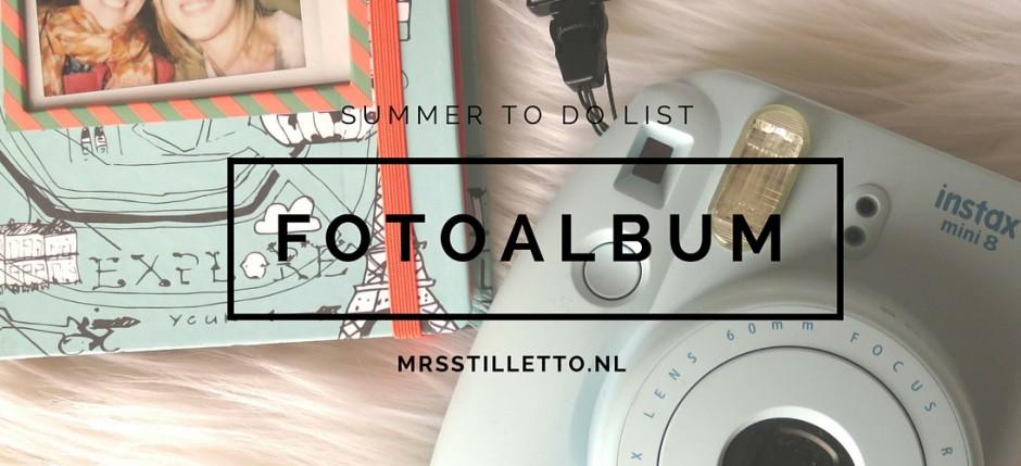 summer to do list zomer fotoalbum bijhouden