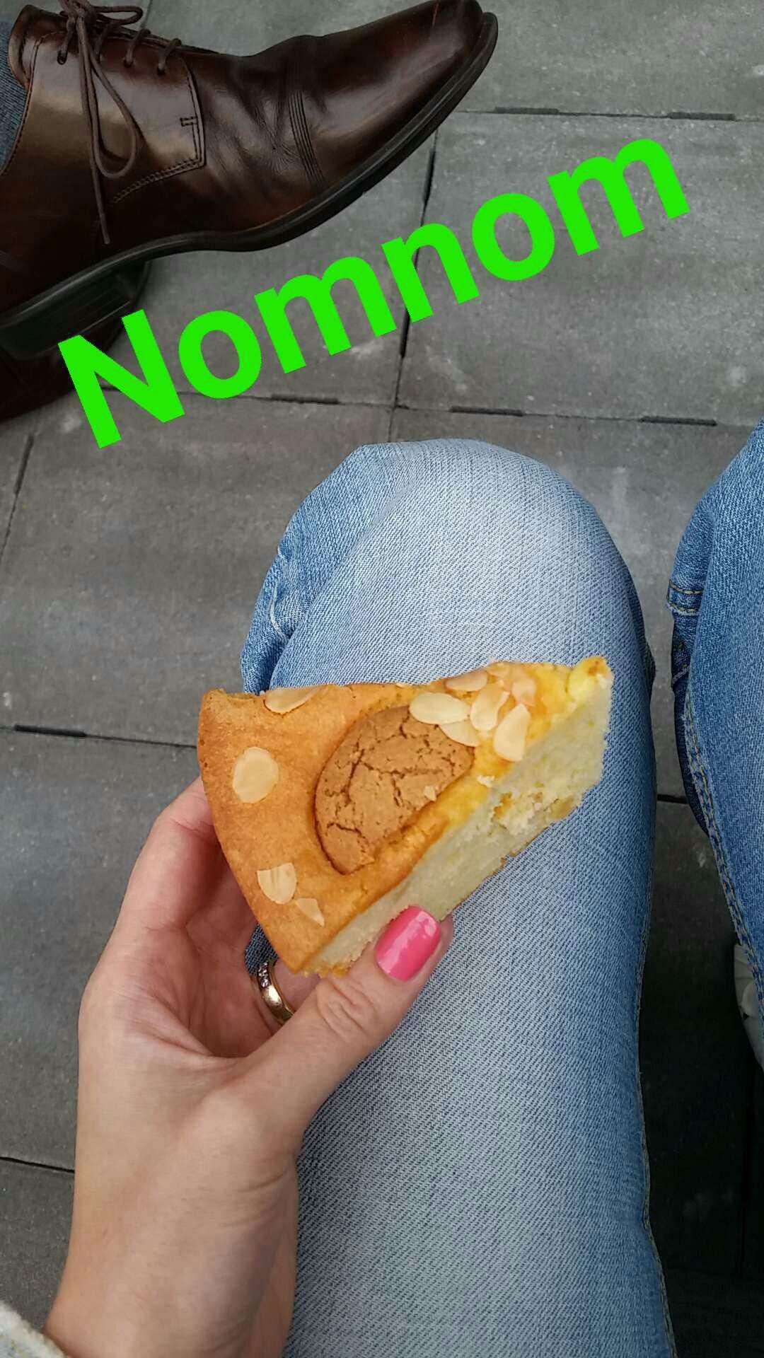 Snapchat nomnom taart