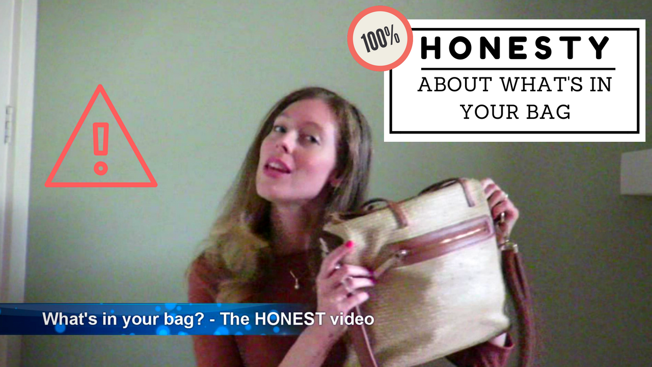 what's in your bag purse honest video