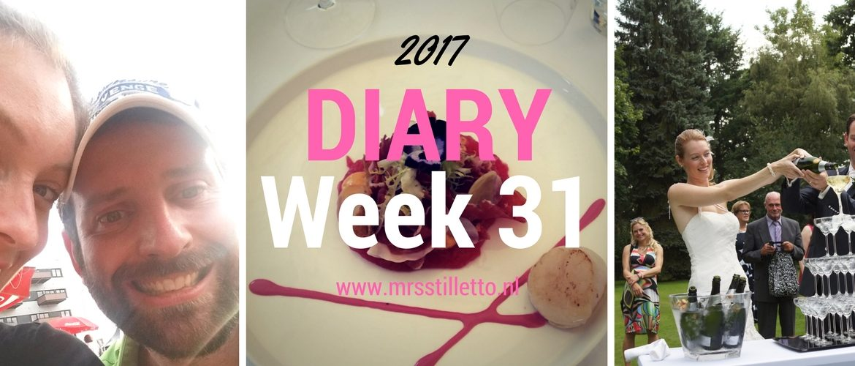 DIARY 2017 Week 31 3 jaar getrouwd