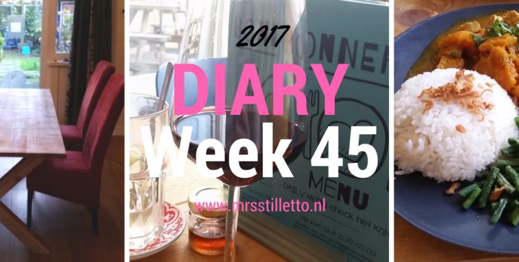 DIARY 2017 - Week 45 - 12 jaar - beeld en geluid
