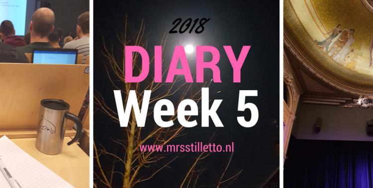 DIARY 2018 - Week 5 - Alleen op Zondag