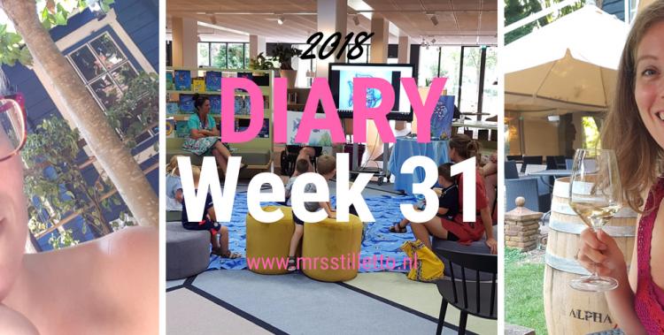 DIARY 2018 - Week 31 - 4 jaar getrouwd